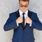 Slim Fit Royal Blue Tuxedo Black Trim - Matching pants or Black Pants $129
