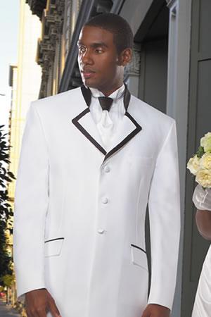 White Tuxedo With Black Trim Tuxedo Rental Phoenix