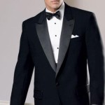 Black 1 Button Peak Tuxedo