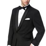 Black 1 Button Shawl Tuxedo