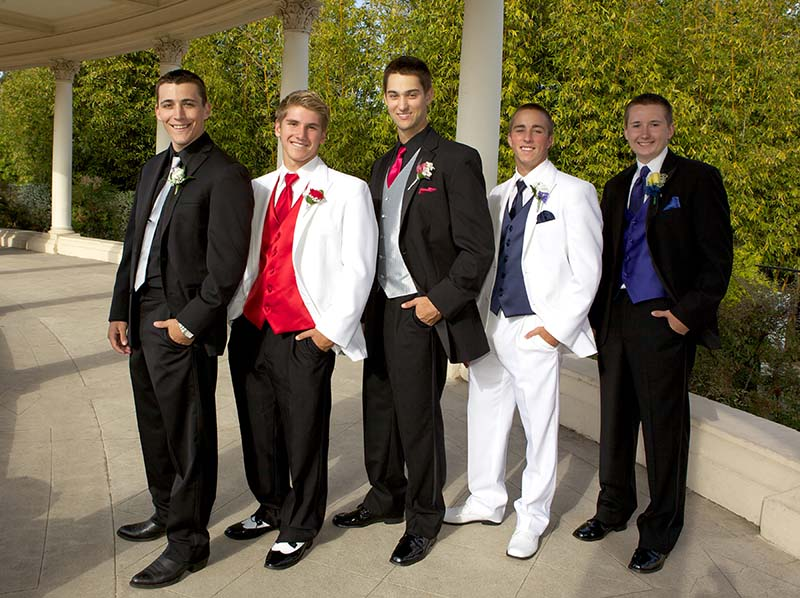 Teenage Boys Wearing Tuxedos for the Prom - Tuxedo Rental Phoenix